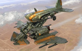Картинка оружие, полёт, аппарат, March of War, Level Up