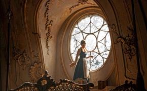 Обои cinema, film, Disney, Beauty and the Beast, Emma Watson, girl, woman, fantsy, movie, Walt Disney