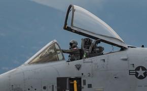 Картинка кабина, пилот, штурмовик, A-10, Thunderbolt II, одноместный