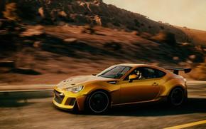 Картинка Вечер, Subaru, Гонки, Photoshop, Фотошоп, Speed, Ubisoft, The Crew, Full HD