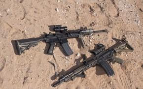 Картинка оружие, земля, штурмовые винтовки