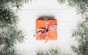 Картинка праздник, подарок, Рождество, Новый год, box, декор, gift, celebration, New year, xmas