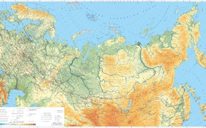 Картинка Россия, карта россии, Физическая карта