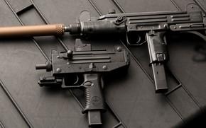 Обои пистолет пулемет, submachine gun, weapon, Микро Узи, Micro Uzi, Узи, Uzi, оружие