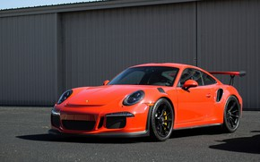 Картинка Porsche, Orange, GT3RS, 991