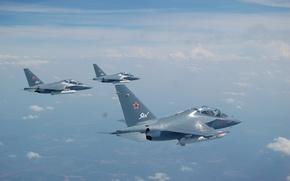 Обои Учебно-боевой, самолёт, Yak-130, Як-130, полет