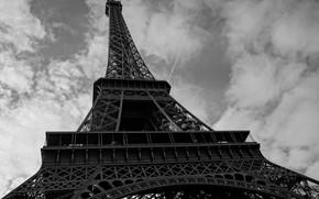 Картинка Париж, Эйфелева башня, облака, Франция