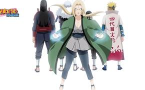 Картинка белый фон, ниндзя, плащ, Naruto, ninja, ниндзюцу, hokage, чакра, Tsunade, Madara Uchiha, Hashirama Senju, Minato …