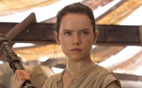 Обои cinema, film, Daisy Ridley Rey, movie, Star Wars, Star Wars: Episode VII: The Force Awakens