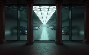 Обои гараж, автомобили, Flooding Opulence
