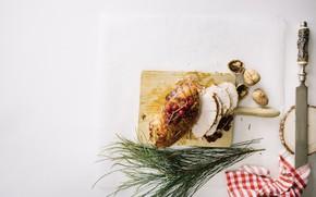 Картинка нож, орехи, мясной рулет, смородин