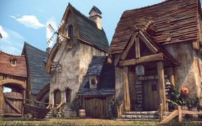 Картинка постройки, final render, Cartoon City