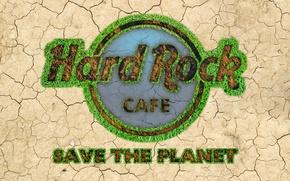 Картинка logo, typography, artwork, miscellanea, quote, Hard Rock Cafe, Save the Planet