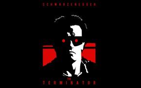Картинка робот, красные глаза, Терминатор, cyborg, Arnold Schwarzenegger