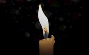 Картинка фон, пламя, свеча, огонек