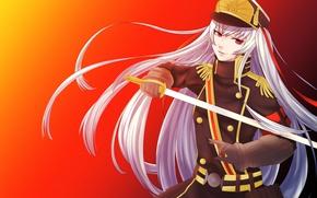 Картинка sword, game, long hair, anime, ken, blade, asian, warrior, japanese, oriental, asiatic, uniform, bishojo, seifuku, …