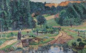 Картинка картина, Арман Гийомен, Armand Guillaumin, Пейзаж Сен-Шерона