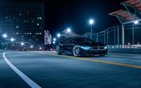 Картинка BMW, Front, Black, Night, Collection, Aristo, i8