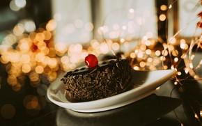 Обои пирожное, сладкое, крем, шоколад