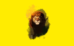 Картинка морда, лев, грива, король