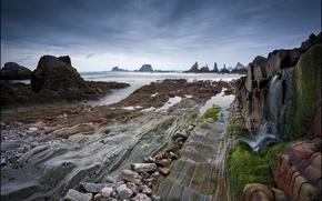 Картинка море, побережье, Испания, Asturias, Dragon Beach