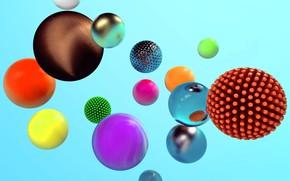 Обои сфера, шар, объем, абстракция