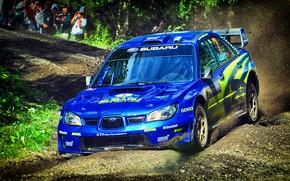 Картинка Авто, Синий, Subaru, Impreza, Спорт, Машина, Гонка, WRX, Автомобиль, STI, WRC, Субару, Импреза, WRX STI, …