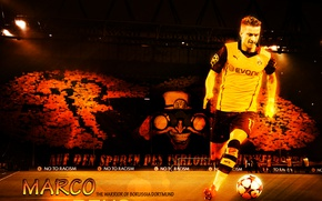 Картинка wallpaper, sport, football, player, Borussia Dortmund, Marco Reus, Signal Iduna Park