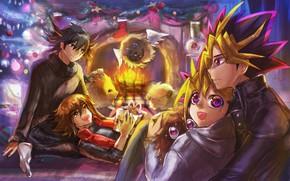 Картинка anime, manga, shounen, japonese, Yu-Gi-Oh!, Seto Kaiba, Yugi, Yu Gi Oh, Yami, Joey Wheeler