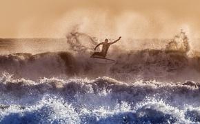 Обои серфинг, волны, море, спорт