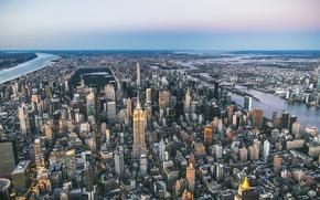 Обои город, панорама, мегаполис, New York