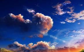 Обои небо, самолет, Y_Y