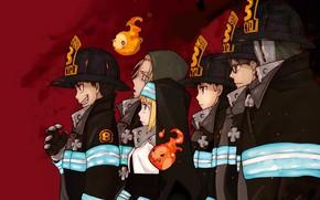 Картинка аниме, арт, парни, Fire Brigade Of Flames!