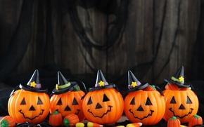 Картинка Pumpkin, halloween, faces