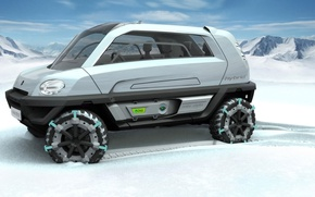 Картинка Concept, снегоход, MILA, Magna Steyr, Alpin