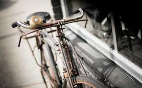 Картинка велосипед, фон, улица
