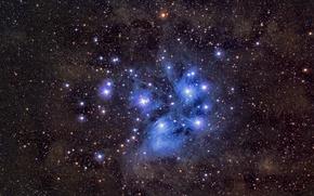Обои звезды, космос, M45, Pleiades