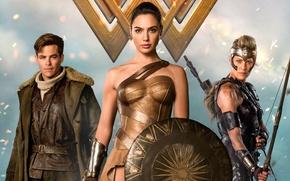 Обои strong, Diana, Shield, Antiope, blonde, Robin Wright, DC Comics, cinema, warrior, film, gauntlet, armor, Chris ...