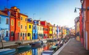 Обои Венеция, Italy, travel, Europe, panorama, canal, лодки, канал, улица, город, city, cityscape, view, Италия, Venice