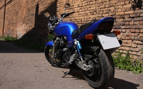Картинка Honda, Blue, SuperFour, CB400