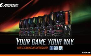Картинка gaming, материнская плата, motherboard, AORUS, your game