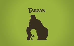 Картинка мультфильм, мальчик, джунгли, горилла, Африка, ребёнок, cartoon, Уолт Дисней, Тарзан, Tarzan, walt disney, Керчак, Кала