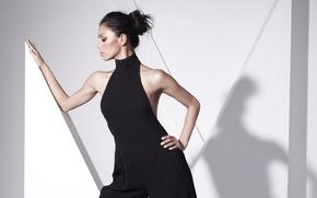 Картинка брюнетка, Nicole Scherzinger, профиль, певица