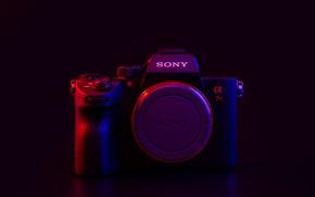 Картинка фон, фотоаппарат, Sony