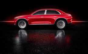Обои Ultimate Luxury, Mercedes-Maybach, Vision, электрокроссовер, вид сбоку, 2018, Mercedes-Benz