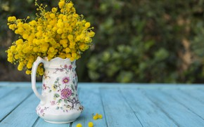 Картинка цветы, желтые, ваза, vase