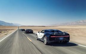 Обои race, car, Bugatti Chiron Rear, desert, Chiron, sand, Bugatti Chiron, Bugatti, speed, supercar, suna, sabaku, ...