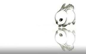 Обои зайчик, ушки, рисунок, детская, кролик, картинка, арт, малыш, карандаш