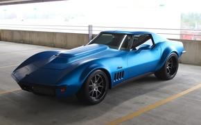Картинка Corvette, Chevrolet, 1969, Stingray, Wheels, Concave, Forgeline, GA3C