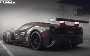 Картинка автомобиль, задок, Poison car concept